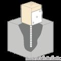 Lacznik belki do betonu Typ U 60x60x4,0 - 2/3