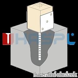 Lacznik belki do betonu Typ U 100x60x4,0 - 2