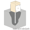 Lacznik belki do betonu Typ U 100x60x4,0 - 2/3