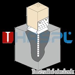 Lacznik belki do betonu przetlaczany Typ U 90x80x4,0 - 2