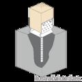 Lacznik belki do betonu przetlaczany Typ U 90x80x4,0 - 2/3