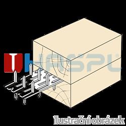 Plytka zebata obustranna 35x84x1,5 - 2