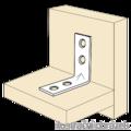 Katownik  90° Typ 4 przetlaczany wzmocniony meblowy 16x35x35x1,5 - 2/3