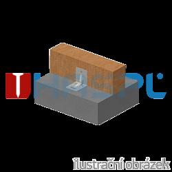 Katownik 90° Typ 4 przetlaczany wzmocniony 90x105x105x3,0 rowek - 2