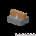 Katownik 90° Typ 4 przetlaczany wzmocniony 90x105x105x3,0 rowek - 2/3