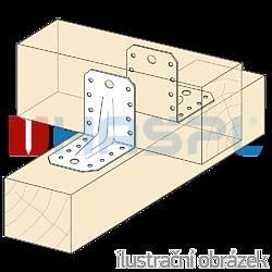 Katownik 90° Typ 4 z przetloczeniem 65x90x90x2,5 - 2