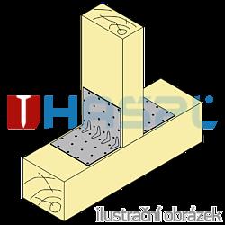 Katownik 90° Typ 4 przetlaczany wzmocniony 80x70x70x1,5 - 2