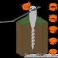 Kotwa ogrodowa wkrecana okragl 26-55x560 - 2/3
