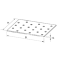 Lacznik plaski perforowany 40x120x2,0 - 3/3