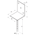 Lacznik belki do betonu Typ L 80x80x4,0 - 3/3