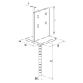Lacznik belki do betonu Typ U 70x70x4,0 - 3/3