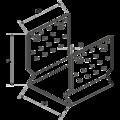Element kotwiacy przetlaczany Typ U 100x100x4,0 - 3/3