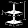 Wspornik Slupa 80x80x330x4,0 M24 regulowany - 3/3
