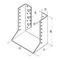 Wspornik belki typ 2 80x160x2 - 3/3