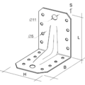 Katownik 90° Typ 4 z przetloczeniem 65x90x90x2,5 - 3/3