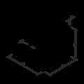 Katownik 90° Typ 4 przetlaczany wzmocniony 80x70x70x1,5 - 3/3