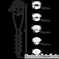 Kotwa ogrodowa wkrecana okragl 26-55x560 - 3/3